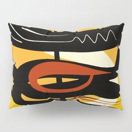 Street Art Yellow African Graffiti Pillow Sham