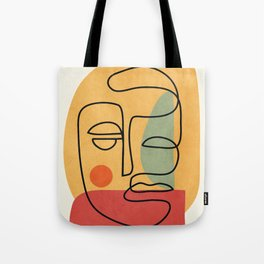 Abstract Face 20 Tote Bag