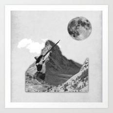 shooting the moon Art Print