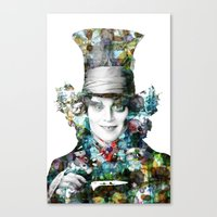 mad hatter Canvas Prints featuring Mad Hatter by NKlein Design