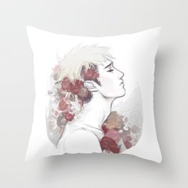 Jean's crown Throw Pillow