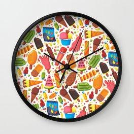 Ice-Cream Pattern Wall Clock