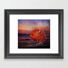 If an ibis became a dahlia Framed Art Print