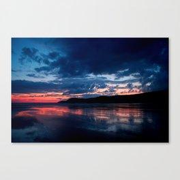 Pembrokeshire sun set, Wales Canvas Print