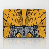 brooklyn bridge iPad Cases featuring BROOKLYN BRIDGE by Phillip Kauffman