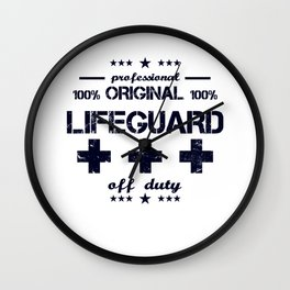 Lifeguard Off Duty Holiday Vacation Beach Summer Relaxing Retired Retirement Wall Clock
