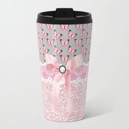 Butterflies in Pink Travel Mug