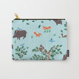 Oak Trees in Forest Carry-All Pouch