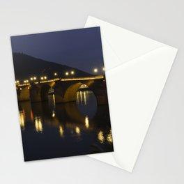 Heidelberg Bridge by night Stationery Cards