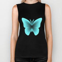 Pretty Wings of Aqua Butterfly Biker Tank