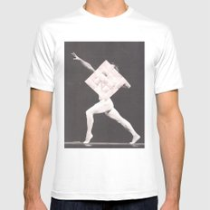 For No One White Mens Fitted Tee MEDIUM