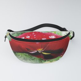 Bright red pansy Fanny Pack