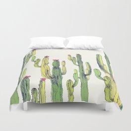 vertical cactus Duvet Cover