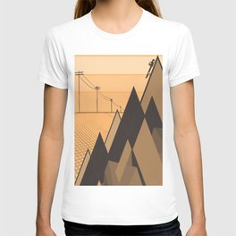 Little mountains and a car  T-shirt