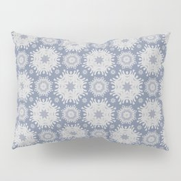 Seamless french farmhouse linen printed winter holiday background.  Pillow Sham