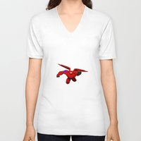big hero 6 V-neck T-shirts featuring Baymax! Big Hero 6 by ZariusArts