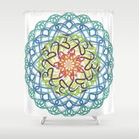 ohm Shower Curtains featuring Ohm-dala by SRC Creations