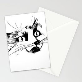 Aurora the cat and her poker face Stationery Cards