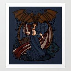 Elizabeth Nouveau Art Print