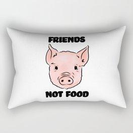 Cute Pig Vegan Friends Not Food Illustration Rectangular Pillow