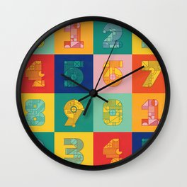 Number Grid Wall Clock
