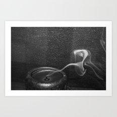 Just a little smoke Art Print
