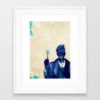 david tennant Framed Art Prints featuring Doctor Who 10th Doctor David Tennant by Art by Colin