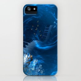 Blue coral melody  iPhone Case