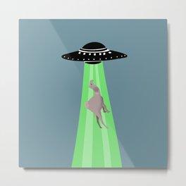Aliens abduction camel Metal Print