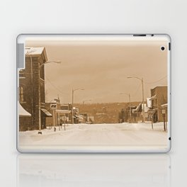 Old Main Street in the Snow Laptop & iPad Skin