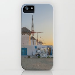 Mykonos Windmills by Pupina iPhone Case