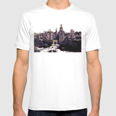 Funkytown - New York City White MEDIUM Mens Fitted Tee