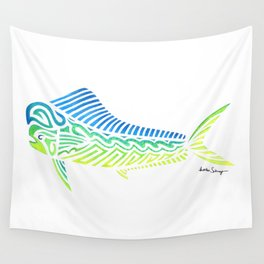 Tribal Mahi Mahi Wall Tapestry