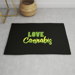 Love Cannabis | Smoke Weed 420 Gift Ideas Rug