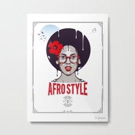 Afro Style II Metal Print