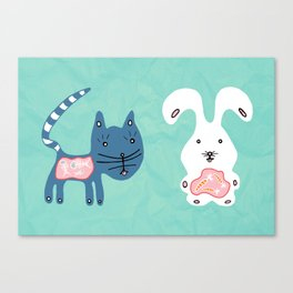 Inside Cat and Bunny Canvas Print