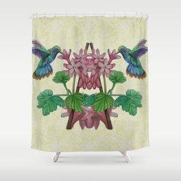 Graphic Art Hummingbirds Twin Shower Curtain