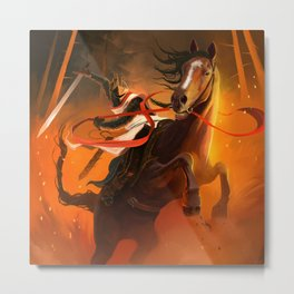 Striking Knight Metal Print