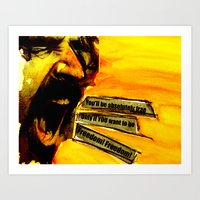zappa Art Prints featuring Zappa Free by MarjoBourge