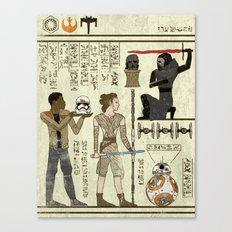 Hero-glyphics: Awakening Canvas Print