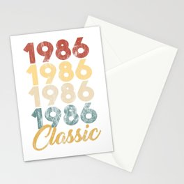 33rd Birthday Gift for Men and Women Born in 1986 Classic 33rd Birthday Party Stationery Cards