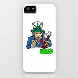 I WANT WEED Smoking Joint Bong Grass 420 Dope Pot iPhone Case