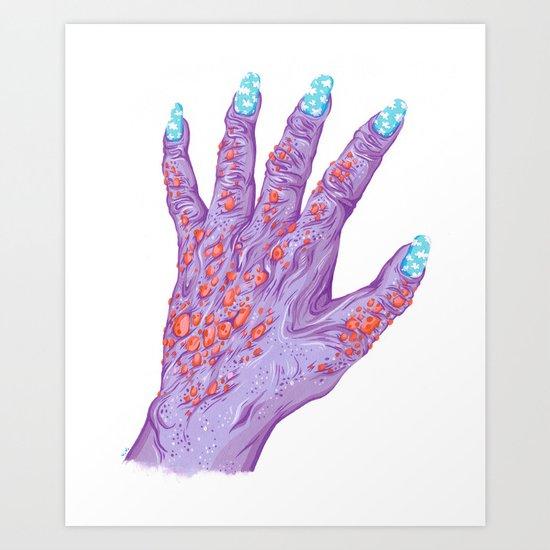 Cloud Nails Art Print