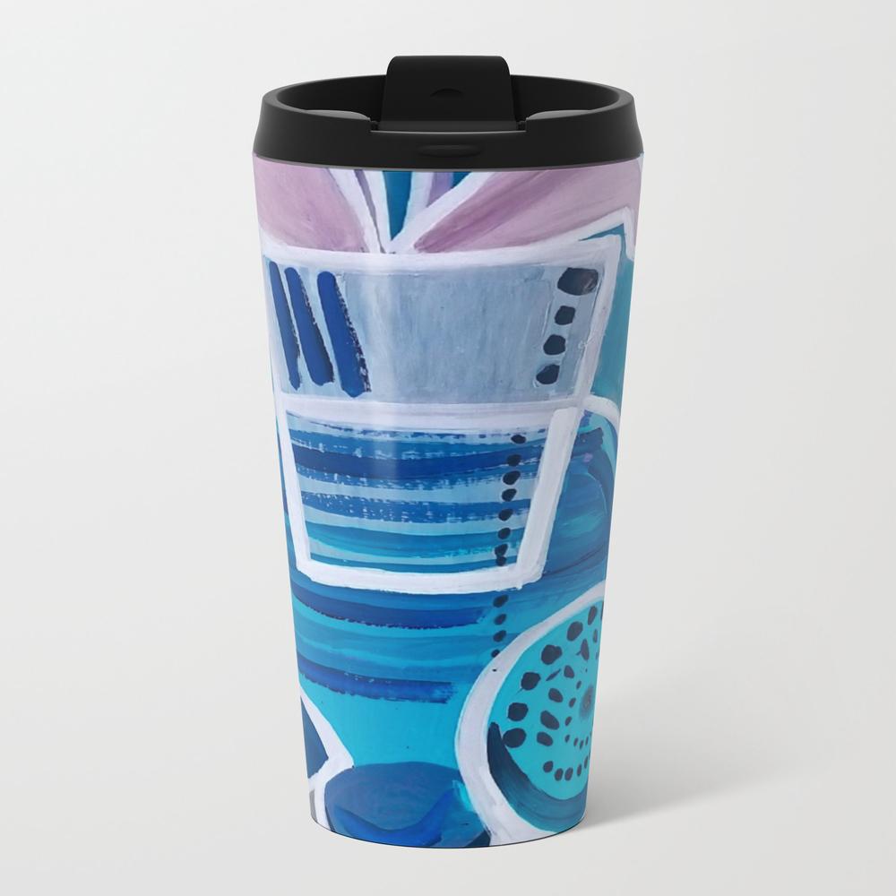 Blue Stilllife Metal Travel Mug by Mashaploshe MTM8862839