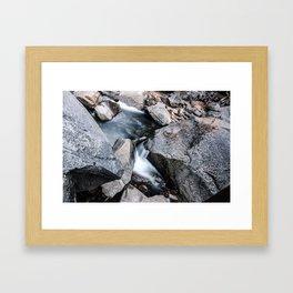 Water on the rocks Framed Art Print