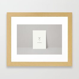 'let the beet drop' Framed Art Print