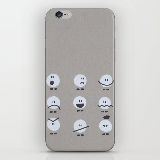 Doodle Faces iPhone & iPod Skin