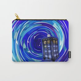 Blue Phone Box with Swirls Carry-All Pouch
