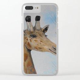 Giraffe Smile Clear iPhone Case