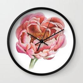 Bubblegum Peony Wall Clock